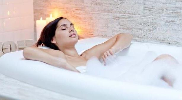 bano de agua caliente para respirar mejor
