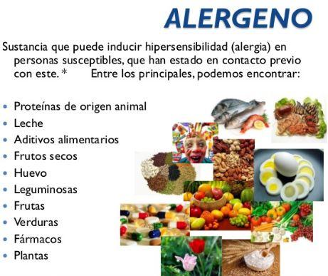 principales alergenos alimentarios