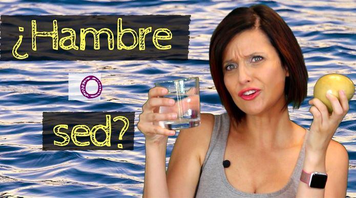 la sed puede confundirse con tener hambre