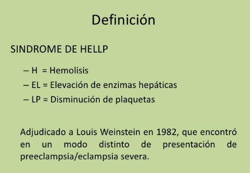 definicion sindrome hellp