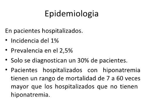 hiponatremia en pacientes hospitalizados