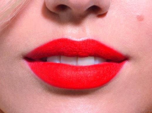 textura de labios aterciopelada