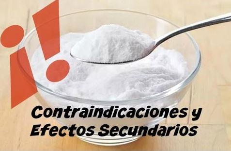 contraindicaciones y efectos secundarios del bicarbonato de sodio