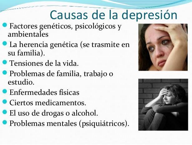 factores desencadenantes y causas de la depresion