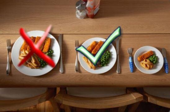 hay que controlar muy bien las porciones de comida para disminuir la ingesta de calorias