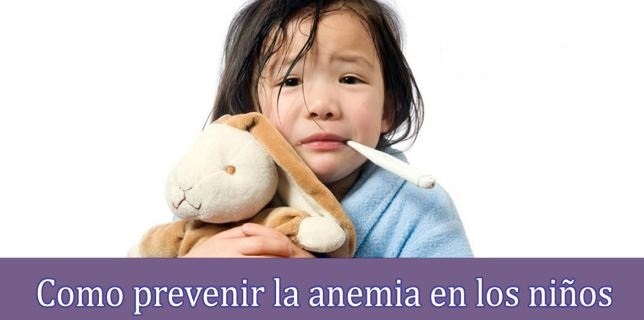 como prevenir la anemia en los ninos