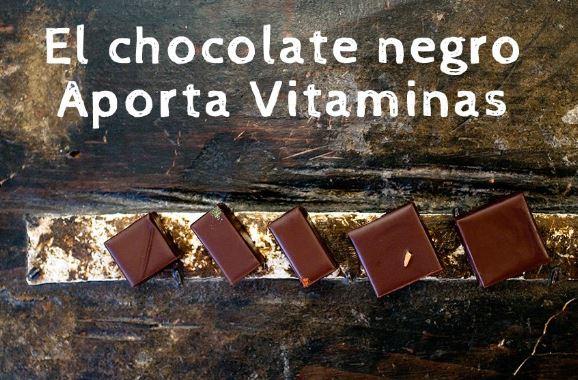 el chocolate negro es muy nutritivo porque aporta vitaminas y minerales