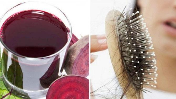 el jugo de remolacha favorece el crecimiento del cabello debido a la gran cantidad de nutrientes que tiene