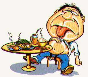 comer demasiado no beneficia a quienes padecen de dispepsia