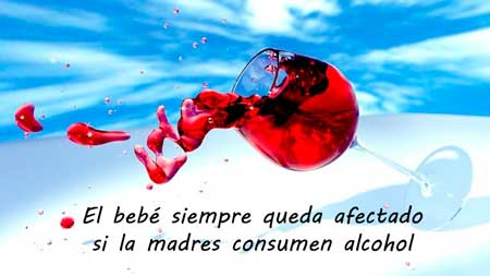el bebe siempre queda afectado si la madre consume alcohol durante el embarazo