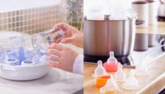 como esterilizar biberones