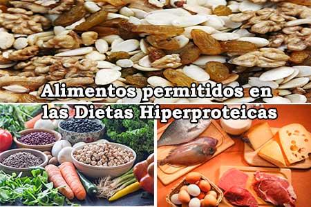 alimentos que se pueden comer en las dietas hiperproteicas