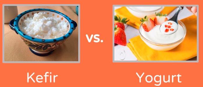 la mayor diferencia entre kefir y yogur esta en su proceso de fermentacion