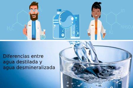 diferencias entre agua destilada y desmineralizada