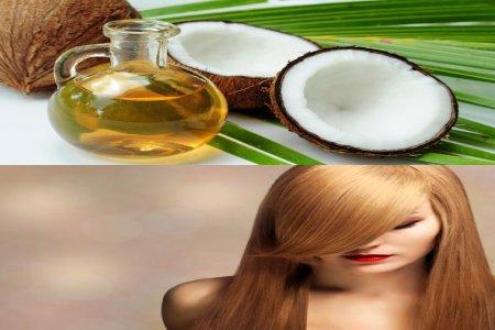 Aceite de coco para el pelo seco