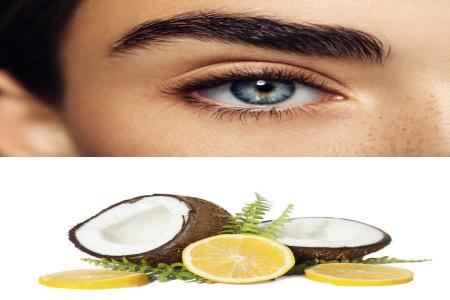 limon y aceite de coco para el crecimiento de las cejas