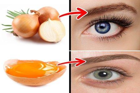 yema de huevo y cebolla para que las cejas crezcan